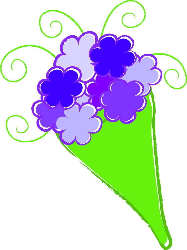 Clip art bunch of flowers. Clipart kid flower bouquet
