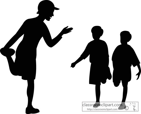 Clip art cds for teachers clip black and white Teacher Silhouette Clipart - Clipart Kid clip black and white