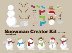 Clip art creator download png stock buy 2 get 1 free Cute Robots Creator Kit clip art for personal and ... png stock