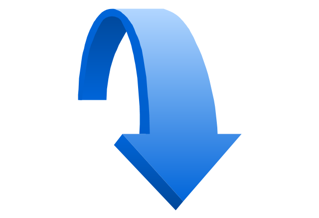 Clip art down arrow banner download Clipart downward arrow - ClipartFest banner download