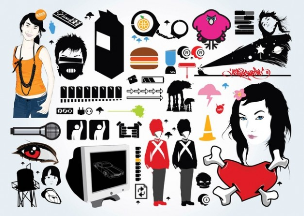 On vector. Clip art download free