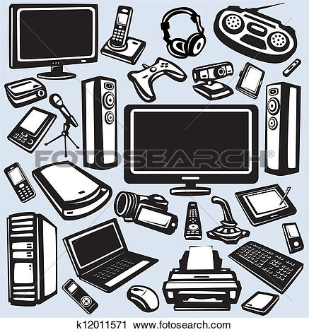 Of items icons k. Clip art electronics