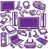Clip art electronics. Royalty free gograph electronic