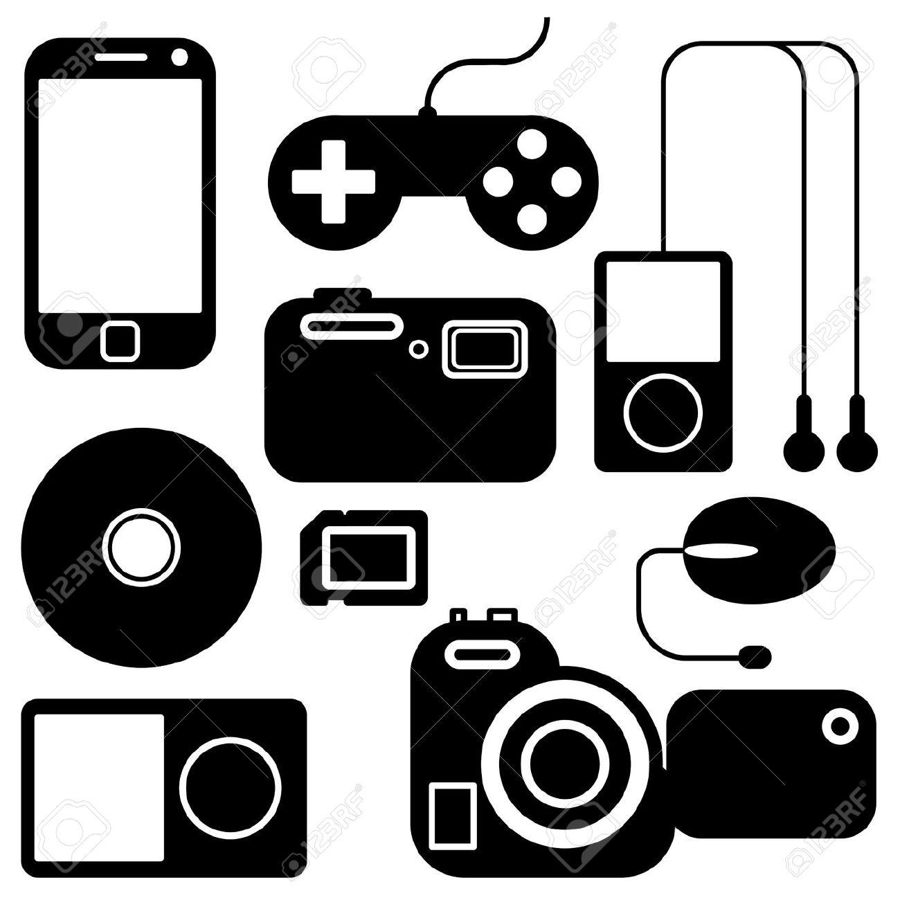 Clip art electronics. Clipartfest technical gadgets clipart