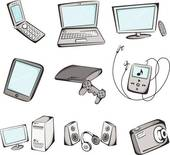 Royalty free gograph items. Clip art electronics