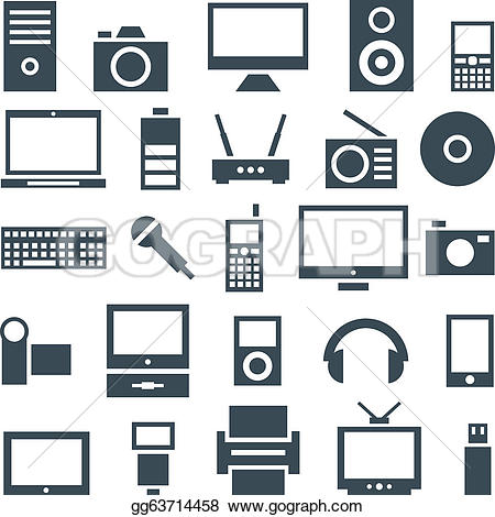 Electronic gadgets royalty free. Clip art electronics