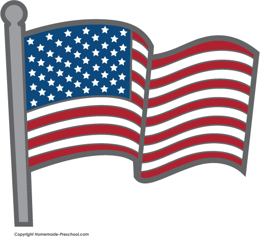Clip art flags us. Free american clipart click