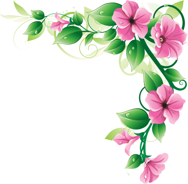 Image of flower clipart vector free library Clipart floral borders - ClipartFest vector free library