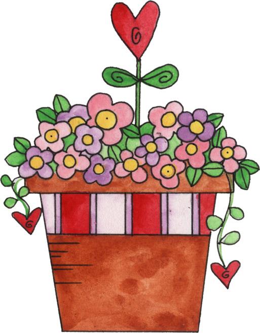 Clip art flowers bouquet. Valentine flower clipart