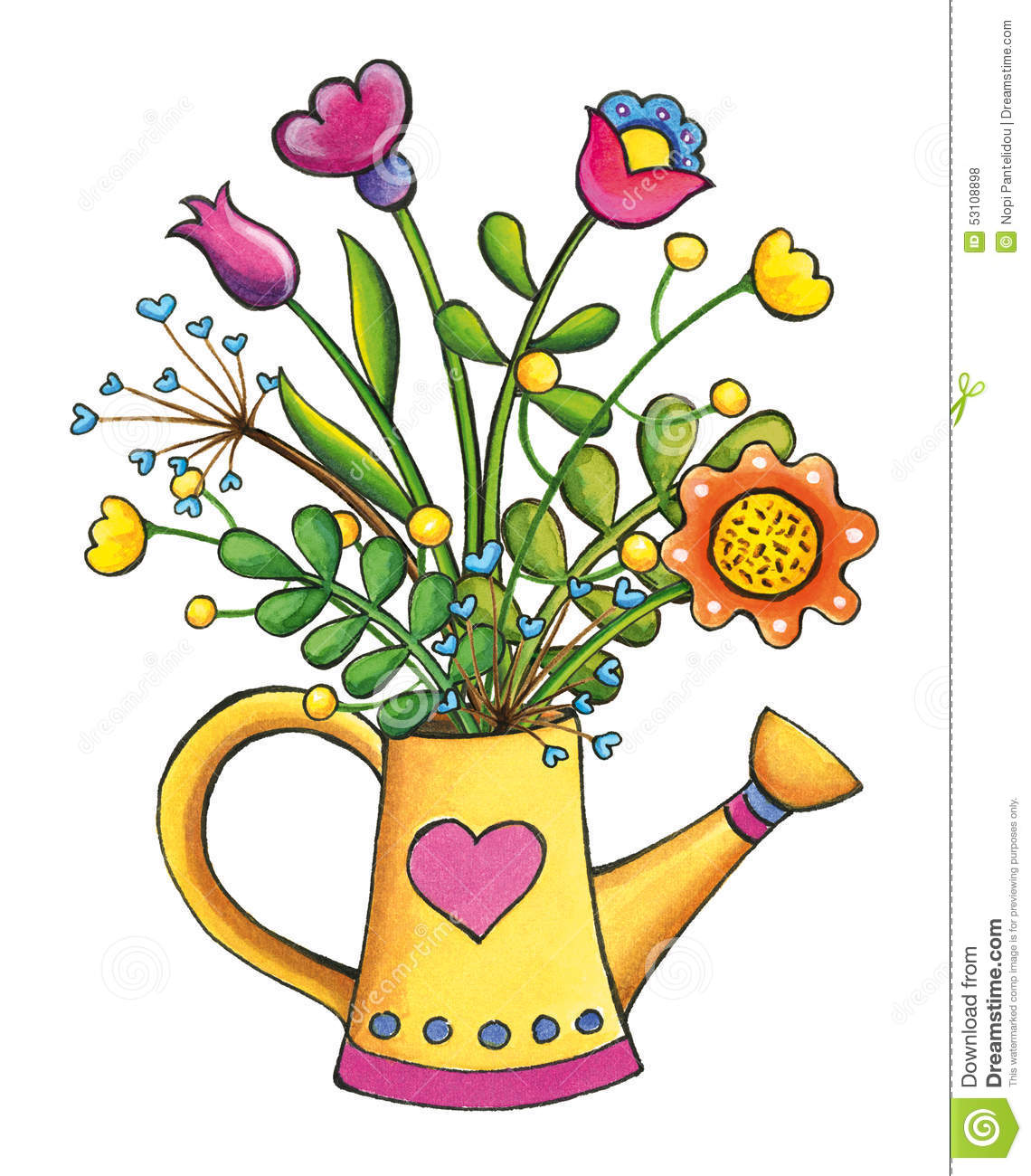Clip art flowers bouquet. Birthday clipart clipartfest hand