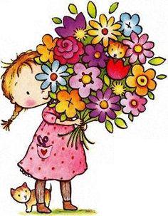 Cute flower clipart free. Clip art flowers bouquet