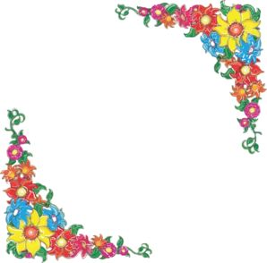 Clip art flowers free. Borders clipartfest flower and