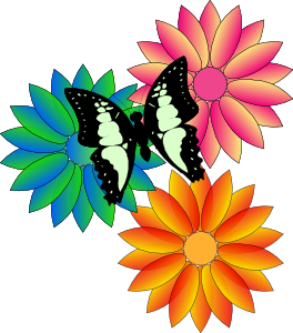 Clip art flowers free. Spring border clipart panda