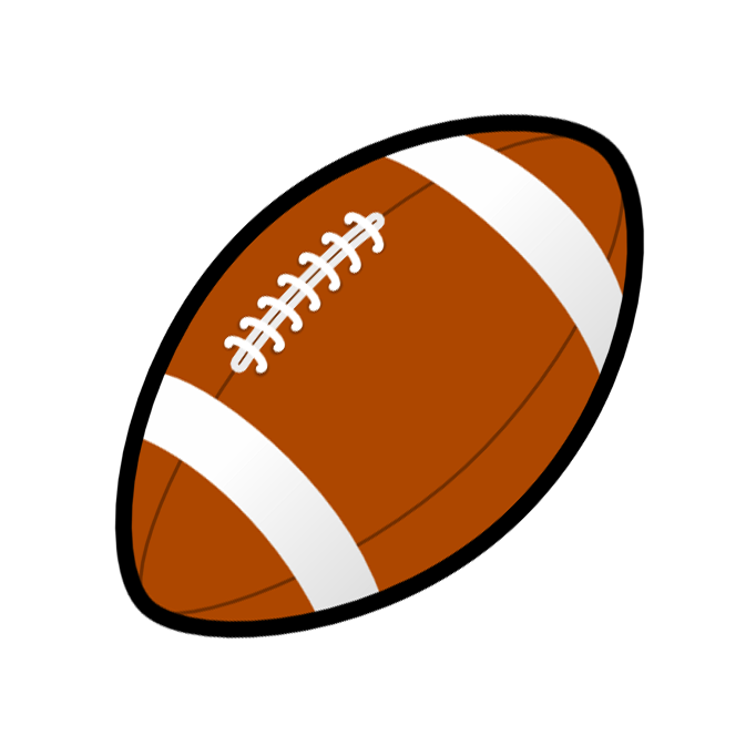 Football animated clipart image free Football Clipart Black And White | Clipart Panda - Free Clipart Images image free