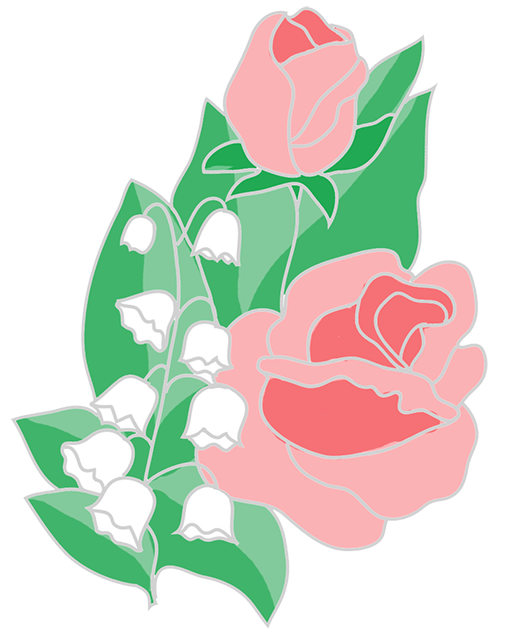Flower chain clipart svg library stock Free Flower Clipart svg library stock