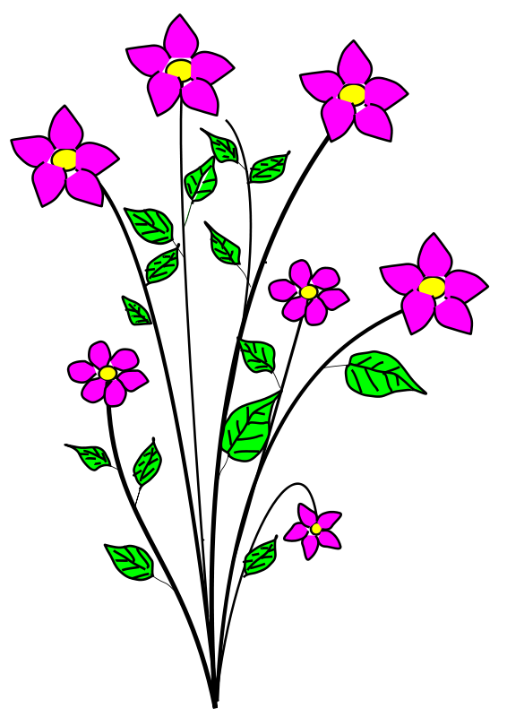 Clip art free flowers svg free Free Flower Clipart - Clipart Kid svg free