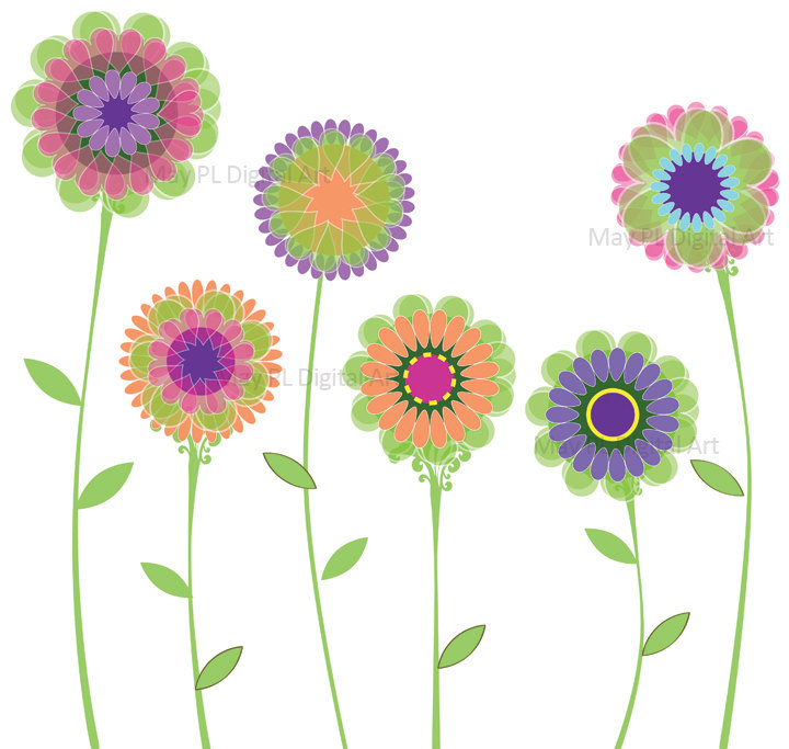 Clip art free flowers. Spring flower clipartfest pink