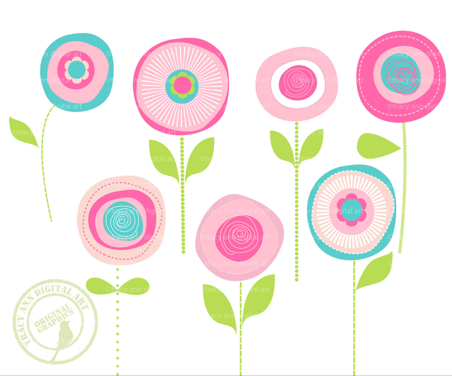 Clip art free flowers. Images flower graphics