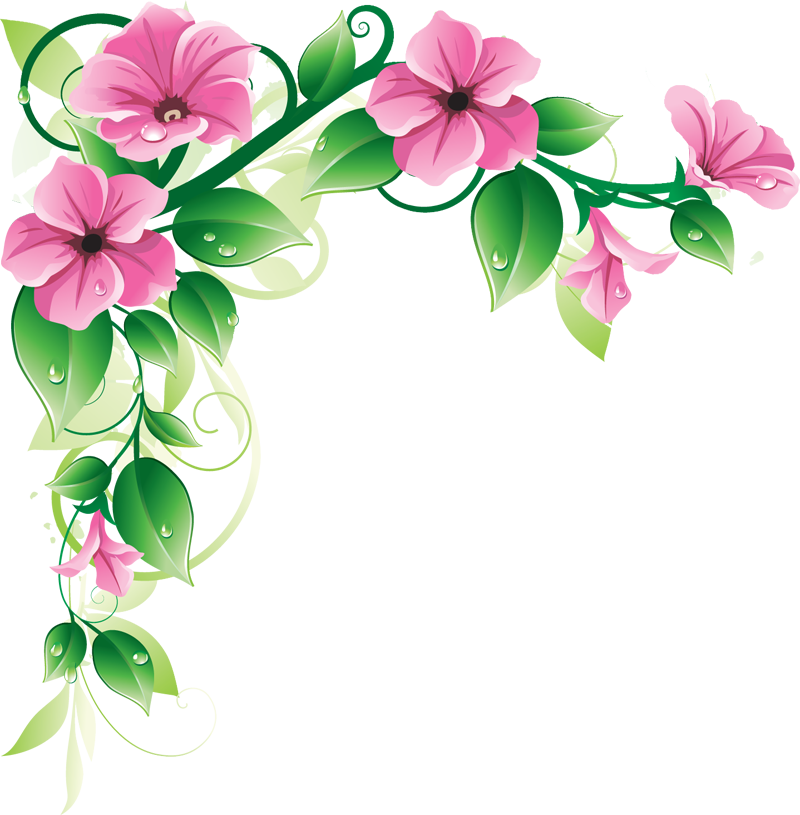 Flower border free clipart picture transparent Grab This Free Clipart to Celebrate the Summer | Pinterest | Floral ... picture transparent