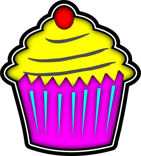 Free halloween birthday clipart image black and white library Image of Cupcake Clipart #161, Cupcake Clip Art Images Free For ... image black and white library