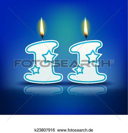 Kerze zahl k suche. Clip art geburtstag 11