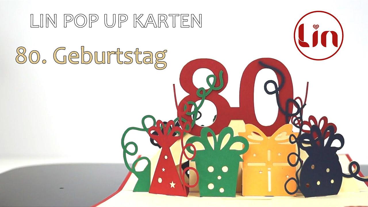 Clip art geburtstag 80 banner freeuse Pop up birthday card, 80th birthday (red) - LIN - POP UP 3D ... banner freeuse