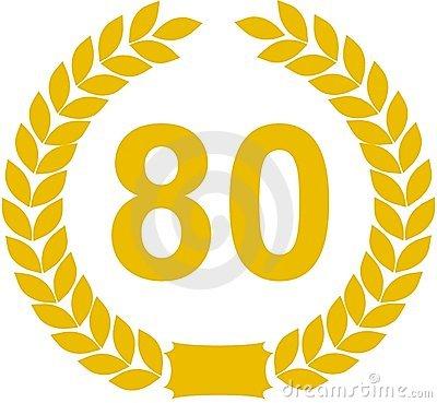 Clip art geburtstag 80 clipart royalty free 80 Anniversary Stock Photos - Image: 8592973 clipart royalty free