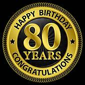 Clip art geburtstag 80 vector Clipart of 80 year birthday celebration, 80th k25041691 - Search ... vector