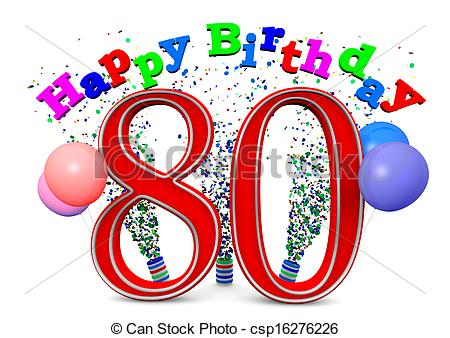 Clip art geburtstag 80. Illustrations and stock happy