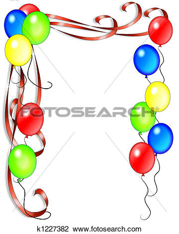 Clip art geburtstag einladung. Clipart of birthday balloons