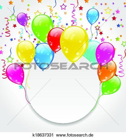 Clip art geburtstag einladung clipart black and white download Clipart - geburtstagseinladung, mit, mehrfarbig, luftballone, und ... clipart black and white download
