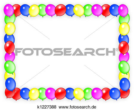 Clip art geburtstag einladung clipart transparent Stock Illustration - geburtstagseinladung, luftballone, rahmen ... clipart transparent