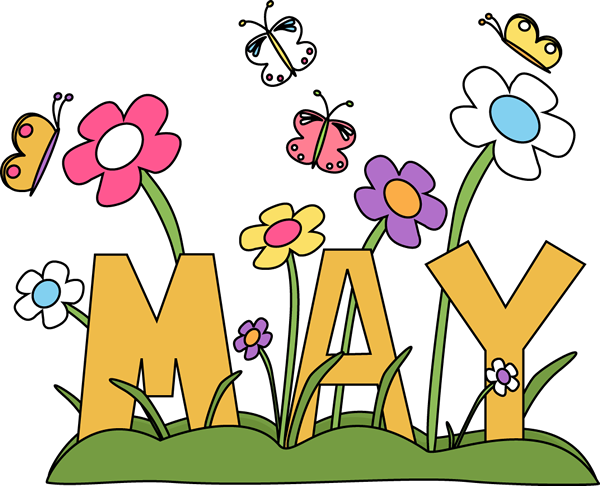Month of image . Clip art may flowers