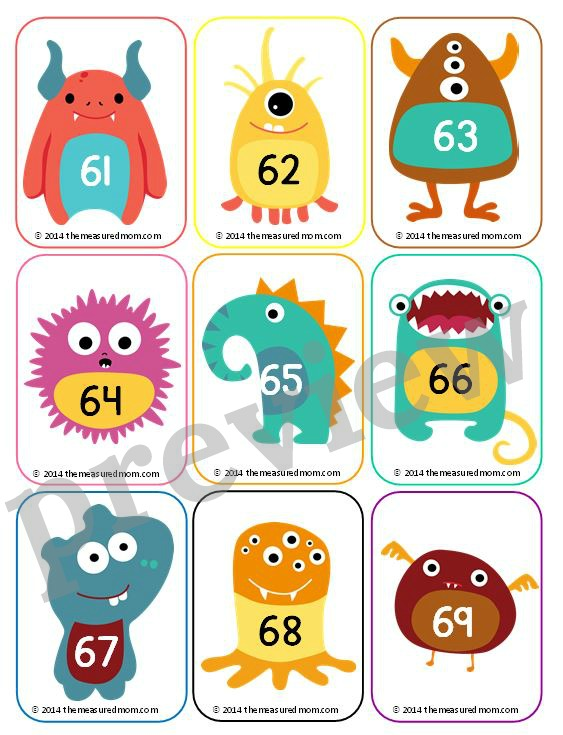Clip art numbers 1 100 vector stock Free number cards 1-130 (with ideas for how to use them!) - The ... vector stock
