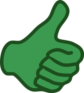 Clip art of thumbs up. Clipart free panda images
