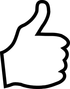 Clip art of thumbs up