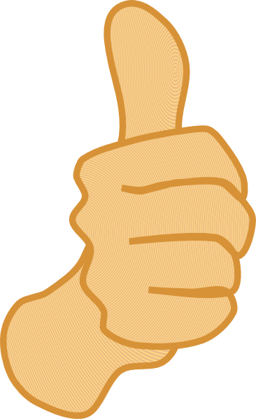 At clker com vector. Clip art of thumbs up