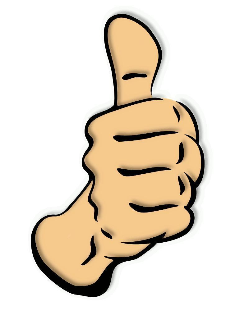 Clip art of thumbs up. Free clipart pictures clipartix