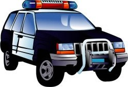 Clip art police car image library stock Free clipart police car - ClipartFest image library stock