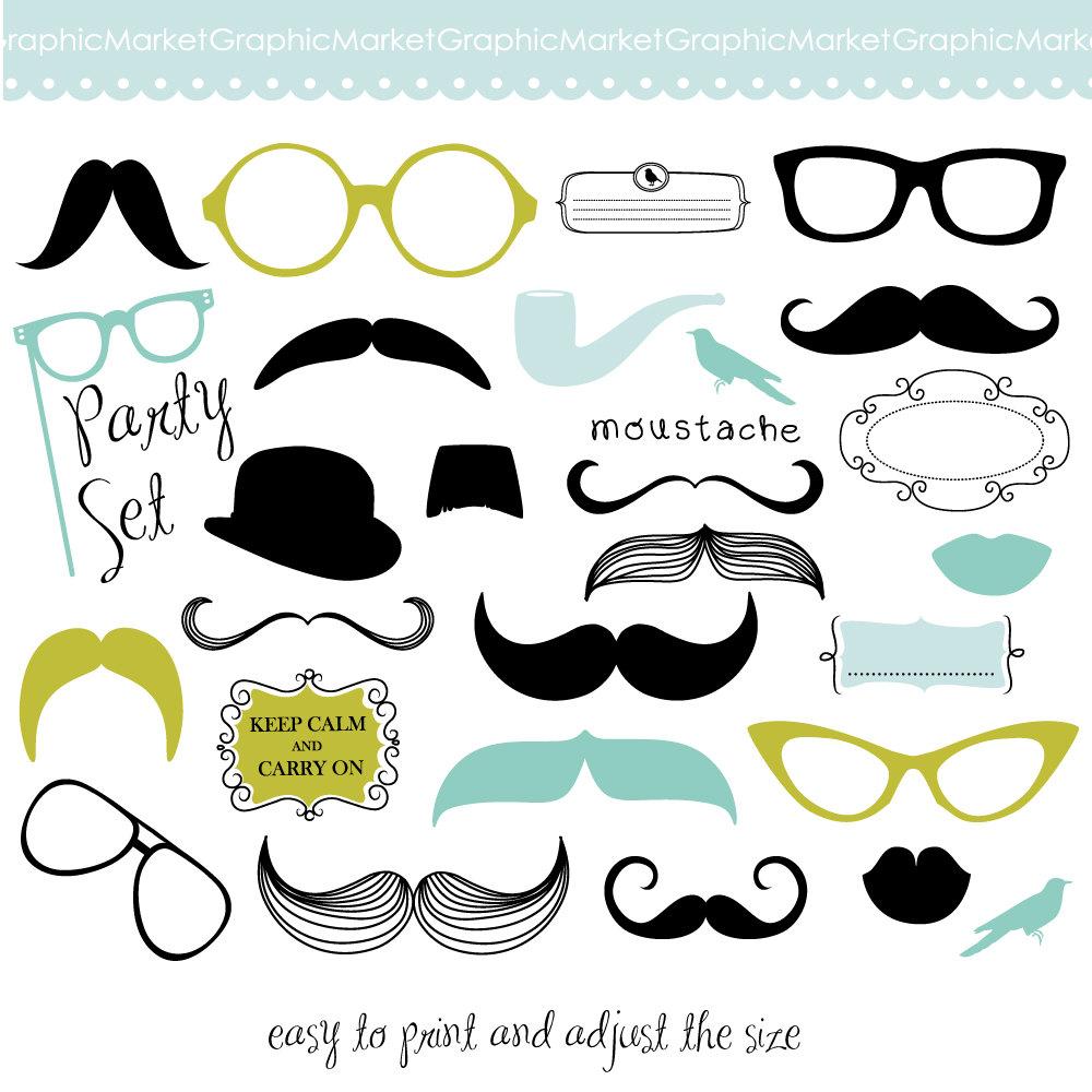 Mustache clipart kid spectacles. Clip art printables