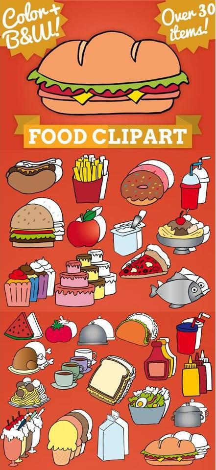 Clip art resources for teachers picture freeuse Food write in clip art | Clip art, Student-centered resources and ... picture freeuse