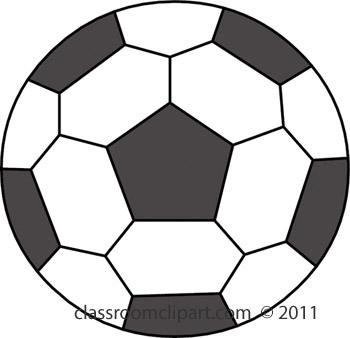 Clip art soccer ball clip black and white stock Transparent Soccer Ball Clipart - Clipart Kid clip black and white stock