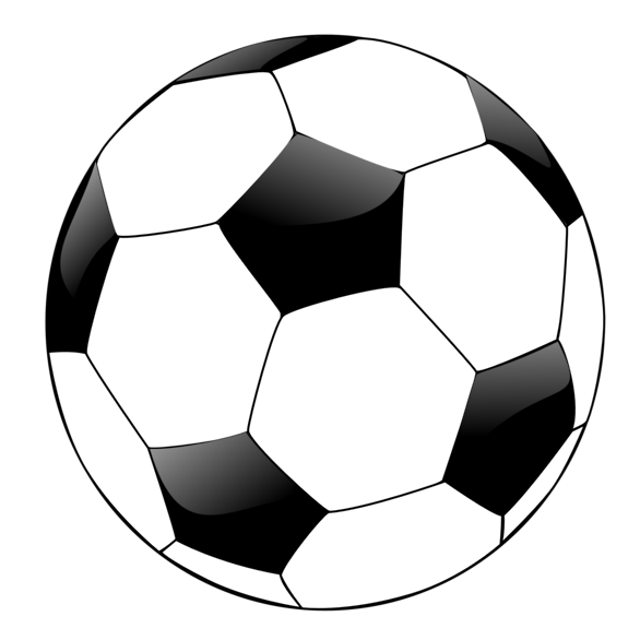 Clipart soccer ball free image black and white Transparent Soccer Ball Clipart - Clipart Kid image black and white