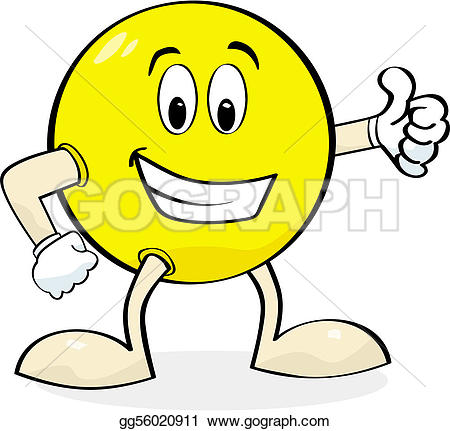 Clip art thumbs up png black and white library Vector Stock - Cartoon giving thumbs up. Clipart Illustration ... png black and white library
