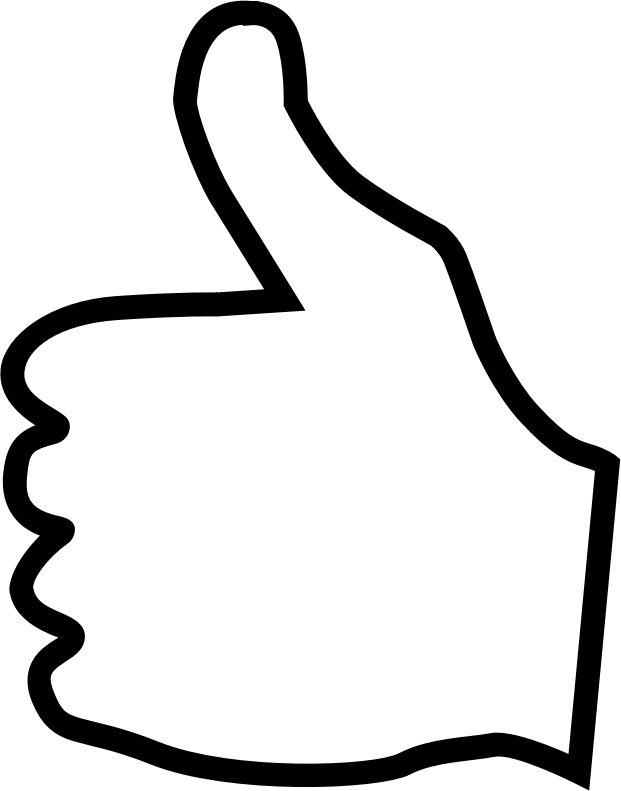 Person with thumbs up clipart