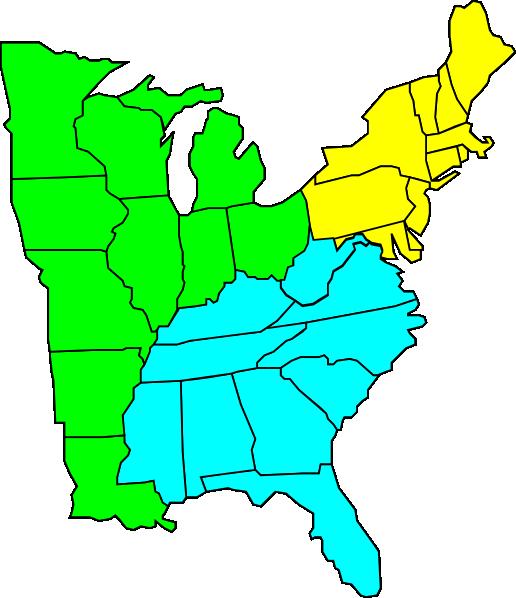 At clker com vector. Clip art united states map