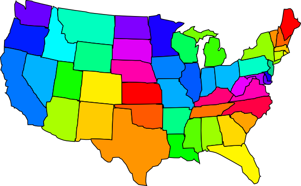 Usa with capitals clipart. Clip art united states map