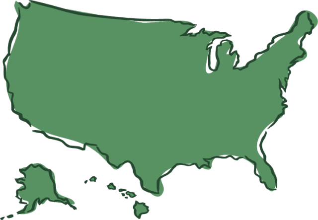 Clip art united states map picture transparent stock Clipart map of us states - ClipartFest picture transparent stock