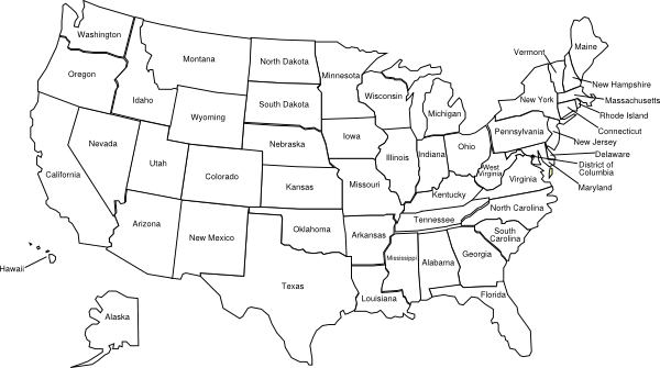 Clip art united states map svg freeuse stock geography blog outline maps. united states map in color az ... svg freeuse stock