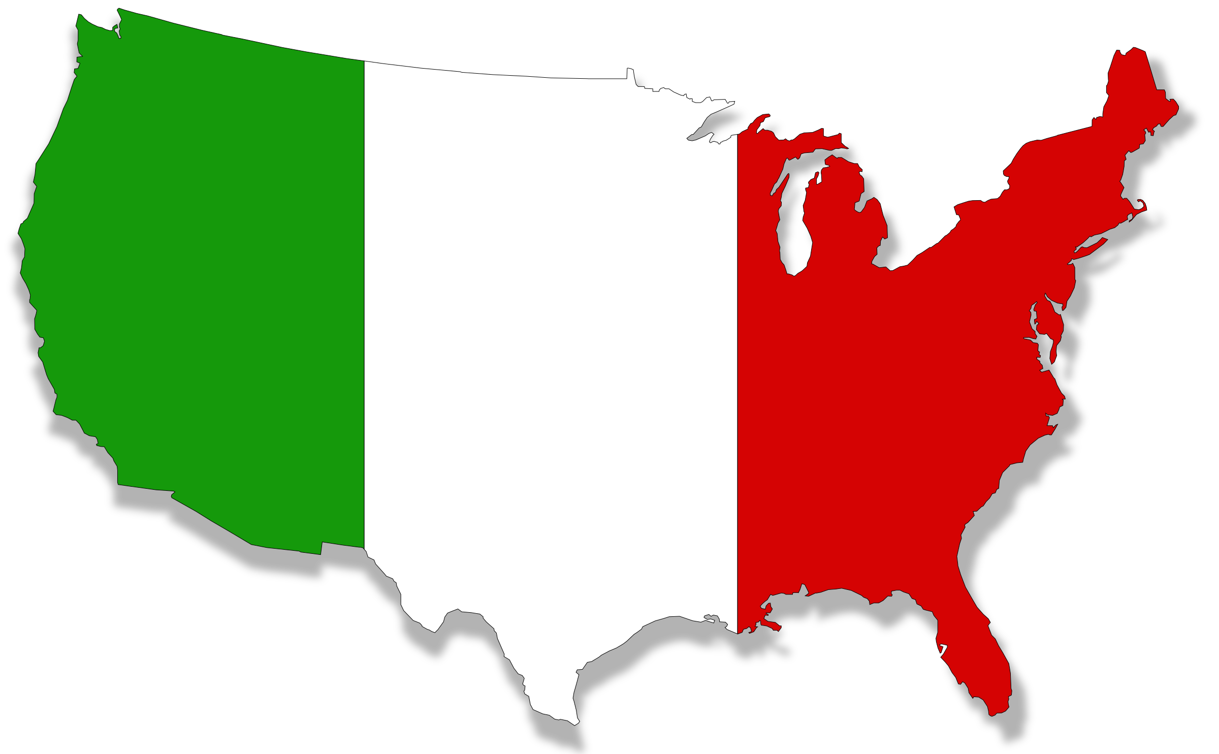 Us map clipart banner black and white United States Silhouette Clip art - italy 2400*1484 transprent Png ... banner black and white